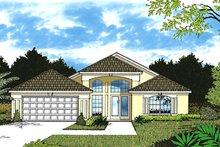 Home Plan - Mediterranean Exterior - Front Elevation Plan #417-828