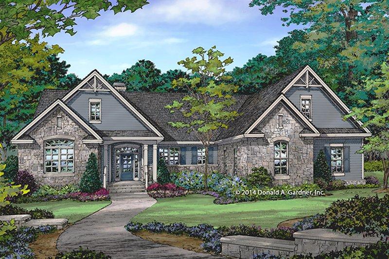 Craftsman Exterior - Front Elevation Plan #929-978