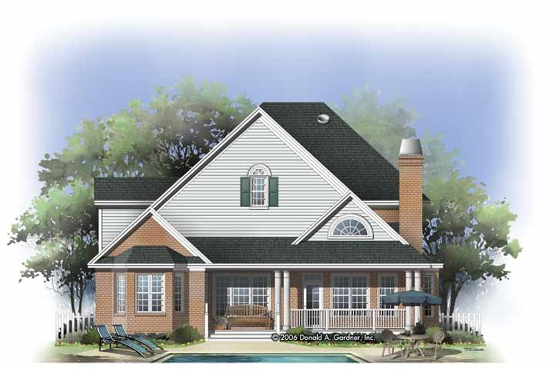 Traditional Exterior - Rear Elevation Plan #929-796 - Houseplans.com