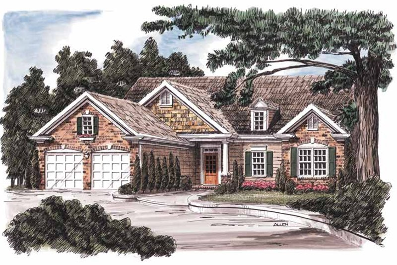 Country Exterior - Front Elevation Plan #927-585
