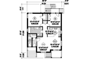European Style House Plan - 6 Beds 3 Baths 3369 Sq/Ft Plan #25-4355 Floor Plan - Main Floor Plan