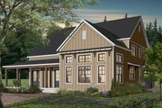 Farmhouse Style House Plan - 4 Beds 3.5 Baths 3354 Sq/Ft Plan #23-2690 Exterior - Rear Elevation