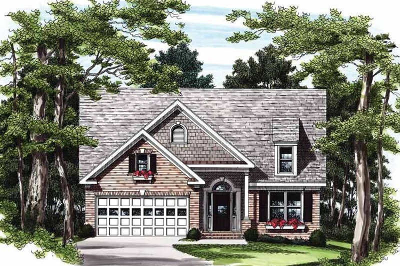 Bungalow Exterior - Front Elevation Plan #927-200