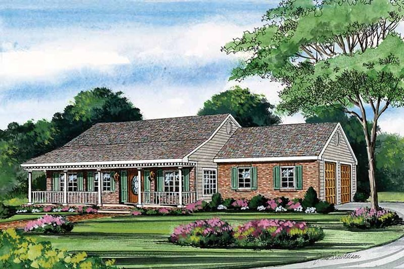 Country Exterior - Front Elevation Plan #314-189 - Houseplans.com