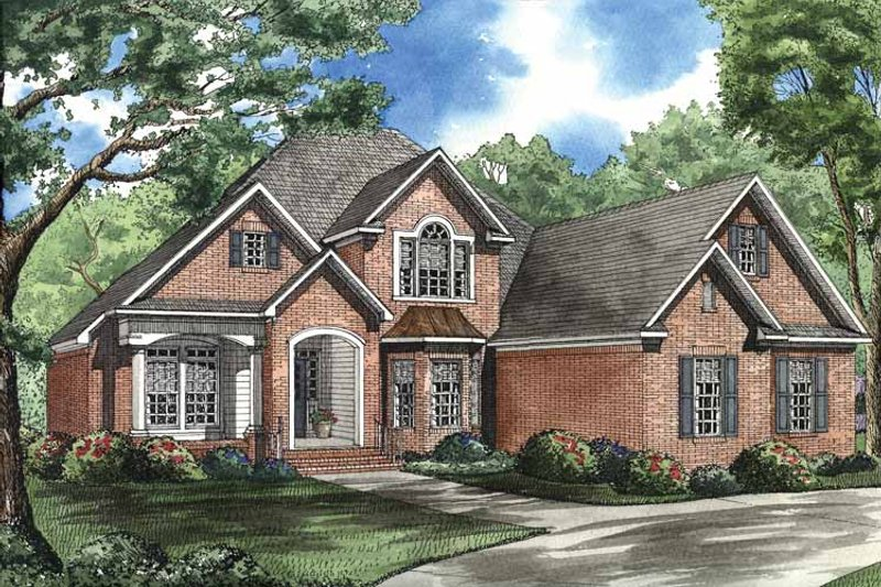 House Plan Design - Traditional Exterior - Front Elevation Plan #17-2793