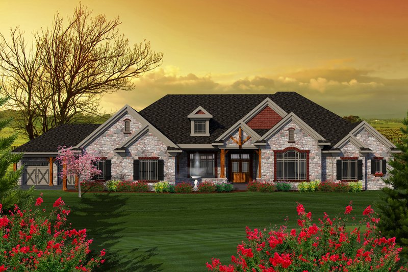 Traditional Exterior - Front Elevation Plan #70-1146 - Houseplans.com