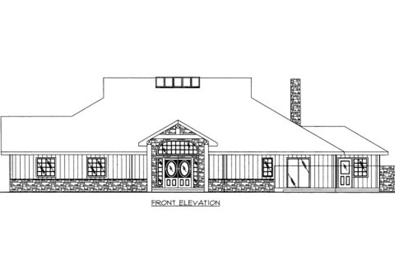 Bungalow Exterior - Front Elevation Plan #117-610