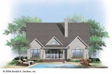 Dream House Plan - Ranch Exterior - Rear Elevation Plan #929-725