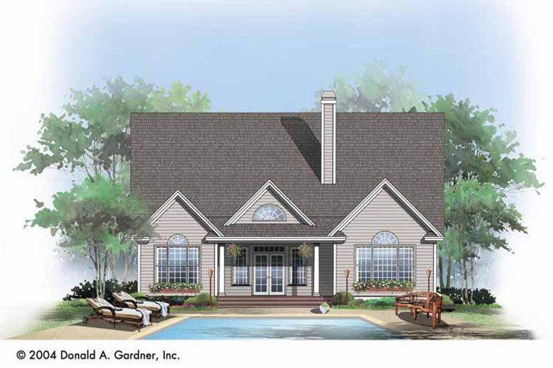 Ranch Exterior - Rear Elevation Plan #929-725 - Houseplans.com