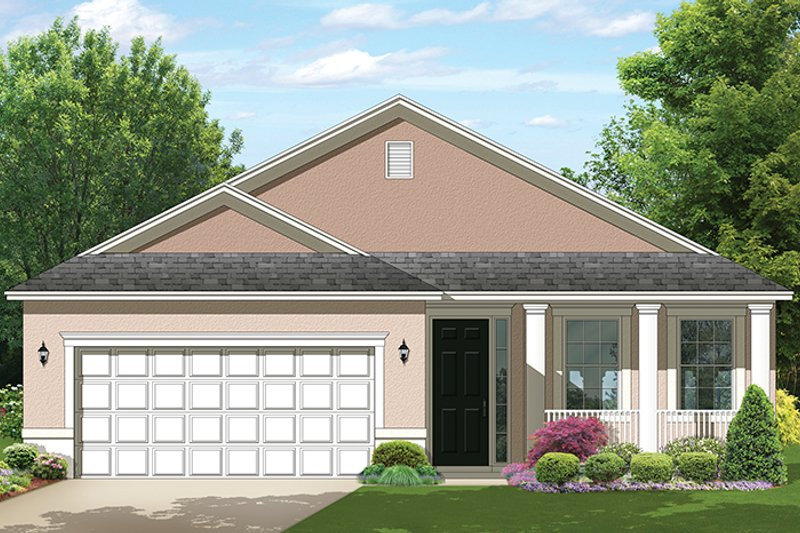 Colonial Exterior - Front Elevation Plan #1058-102 - Houseplans.com