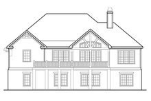 European Exterior - Rear Elevation Plan #927-961