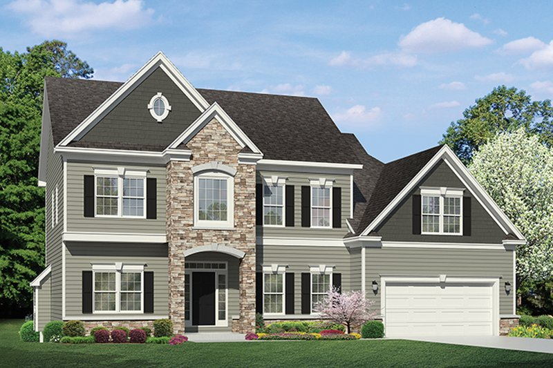 Architectural House Design - Colonial Exterior - Front Elevation Plan #1010-154