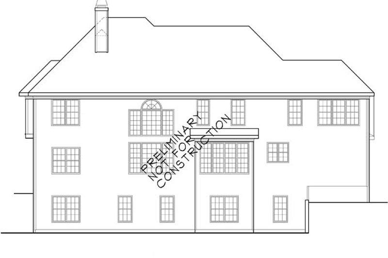 Traditional Exterior - Rear Elevation Plan #927-756 - Houseplans.com