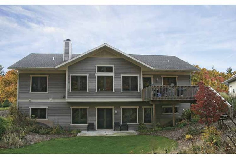 Craftsman Exterior - Rear Elevation Plan #928-80 - Houseplans.com