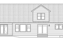 Country Exterior - Rear Elevation Plan #1010-153