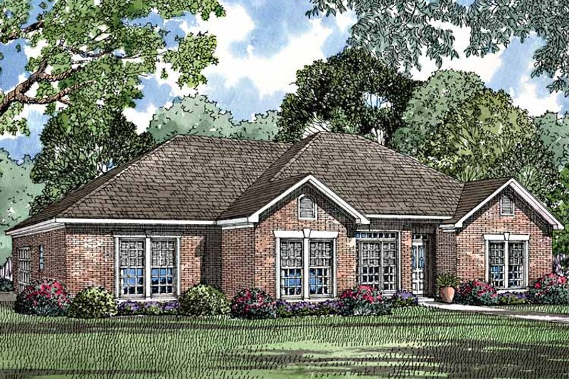 Ranch Exterior - Front Elevation Plan #17-3175 - Houseplans.com