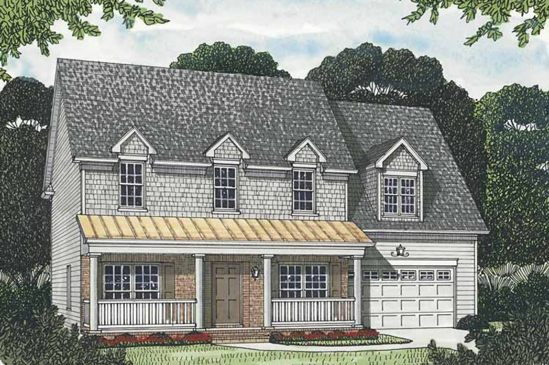 Traditional Exterior - Front Elevation Plan #453-553 - Houseplans.com