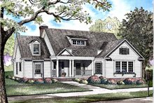 Home Plan - Colonial Exterior - Front Elevation Plan #17-2973