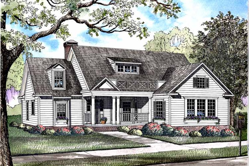House Plan Design - Colonial Exterior - Front Elevation Plan #17-2973