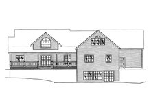 Southern Exterior - Rear Elevation Plan #117-147