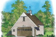 Colonial Exterior - Front Elevation Plan #1016-82
