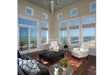 Architectural House Design - Contemporary Interior - Family Room Plan #928-249