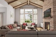 Contemporary Style House Plan - 3 Beds 2 Baths 1878 Sq/Ft Plan #48-944 Interior - Family Room