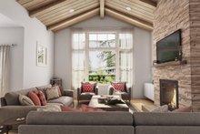 Architectural House Design - Contemporary Interior - Family Room Plan #48-944