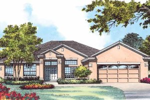 Dream House Plan - Mediterranean Exterior - Front Elevation Plan #1015-15