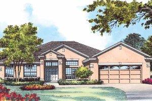 Dream House Plan - Mediterranean Exterior - Front Elevation Plan #1015-15