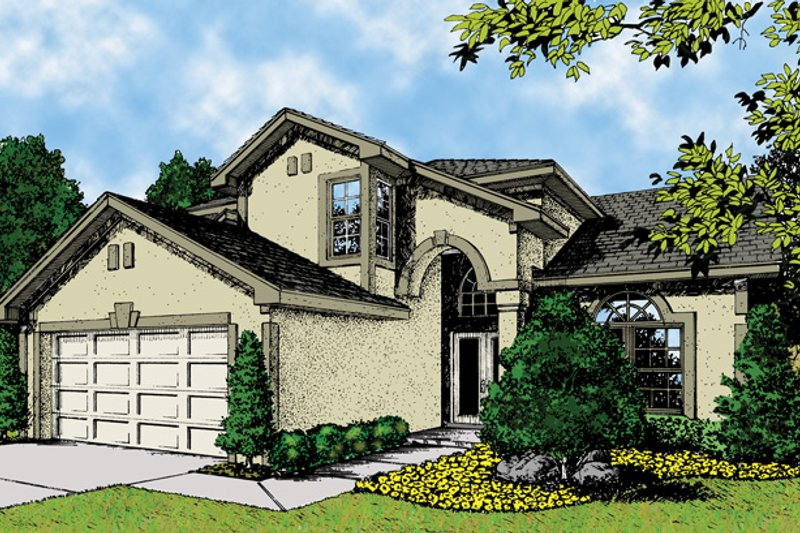House Plan Design - Mediterranean Exterior - Front Elevation Plan #417-601