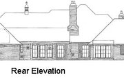 European Style House Plan - 4 Beds 3.5 Baths 3487 Sq/Ft Plan #310-334 Exterior - Rear Elevation