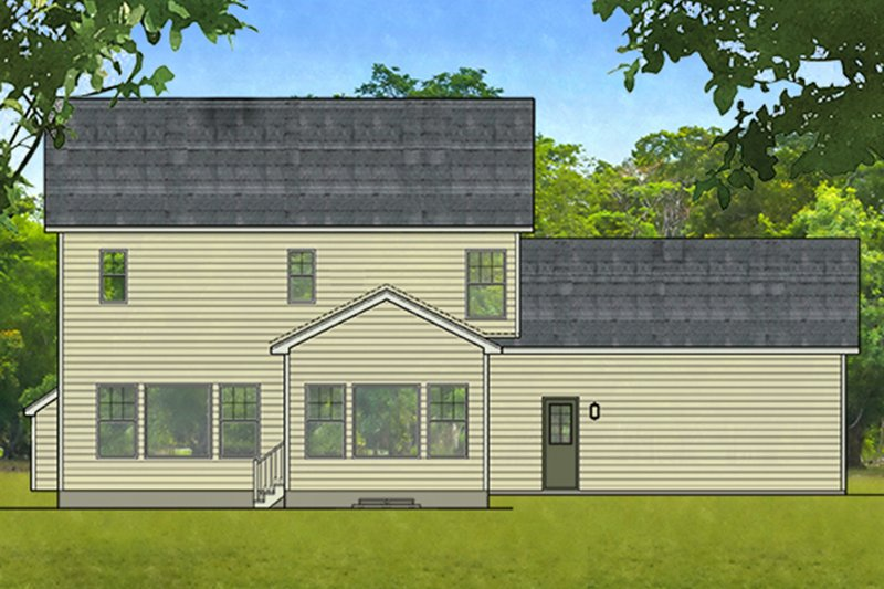Traditional Exterior - Rear Elevation Plan #1010-201 - Houseplans.com