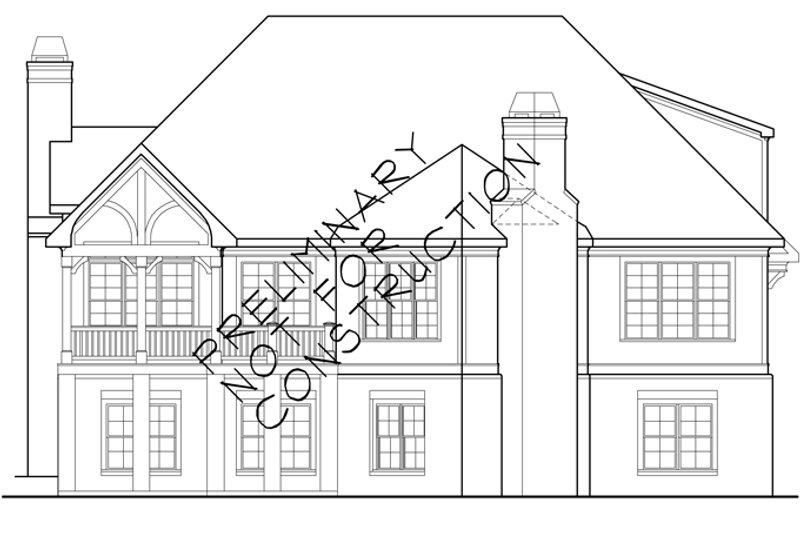 European Exterior - Rear Elevation Plan #927-358 - Houseplans.com
