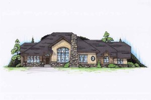 Cottage Exterior - Front Elevation Plan #945-130