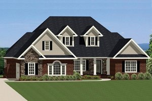 Colonial Exterior - Front Elevation Plan #898-38