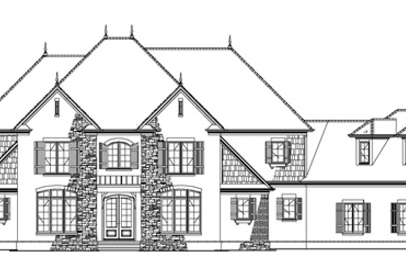 European Exterior - Front Elevation Plan #17-3328 - Houseplans.com