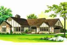House Blueprint - Tudor Exterior - Front Elevation Plan #72-309