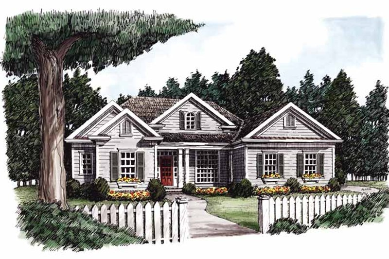 Ranch Exterior - Front Elevation Plan #927-766