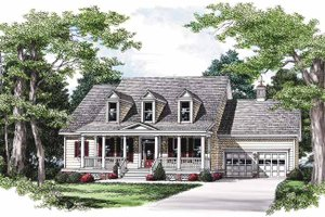 Country Exterior - Front Elevation Plan #927-570