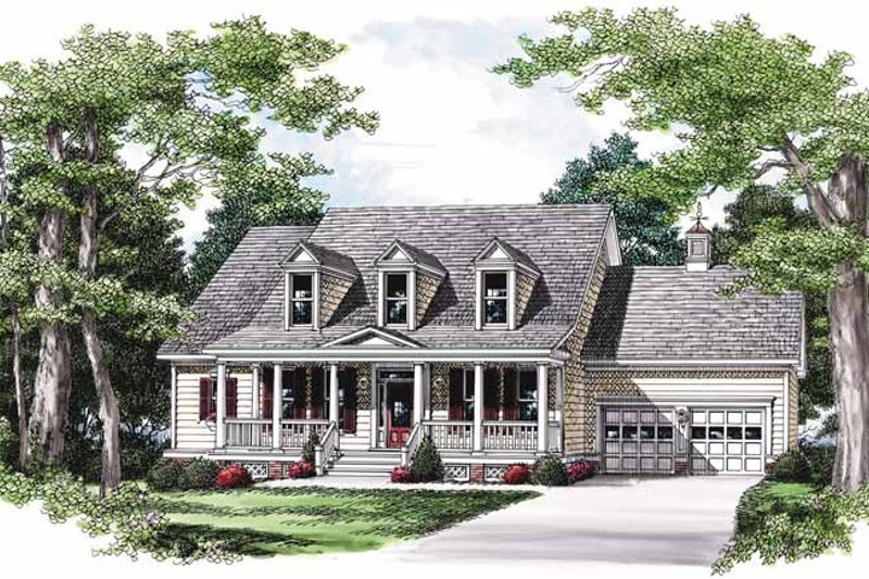 Architectural House Design - Country Exterior - Front Elevation Plan #927-570