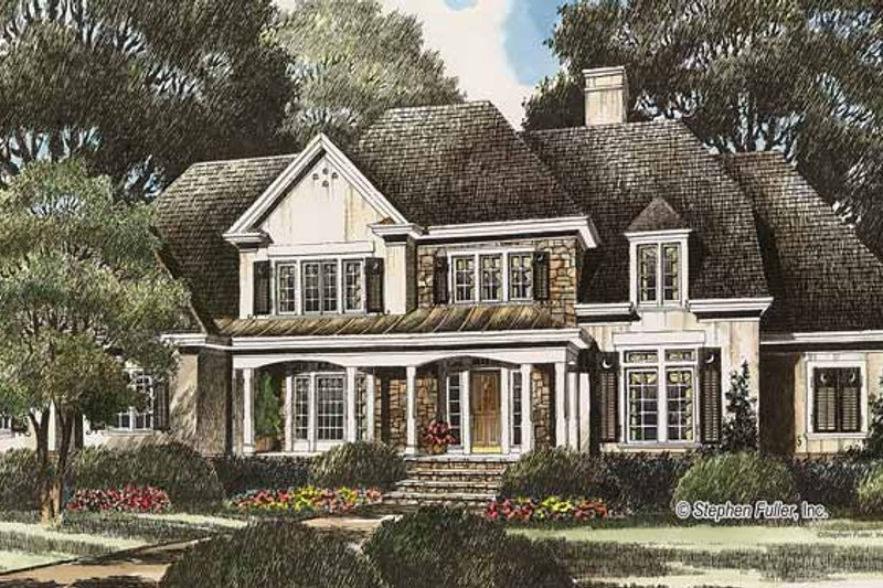 Country Exterior - Front Elevation Plan #429-348