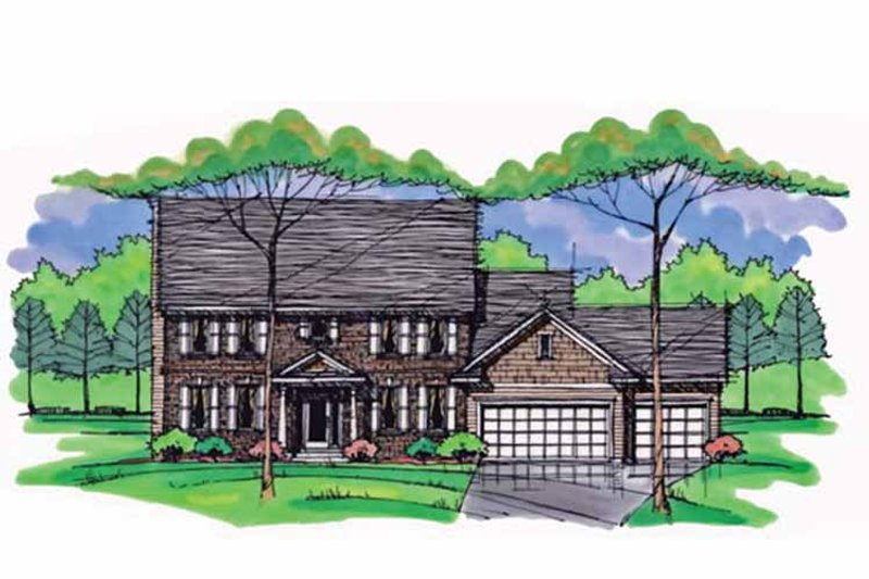 Colonial Exterior - Front Elevation Plan #51-1008