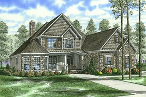 Craftsman Exterior - Front Elevation Plan #17-2153