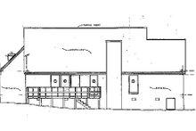 Home Plan Design - European Exterior - Rear Elevation Plan #36-123