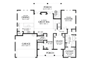 Contemporary Style House Plan - 4 Beds 3.5 Baths 3032 Sq/Ft Plan #48-1003 Floor Plan - Main Floor Plan