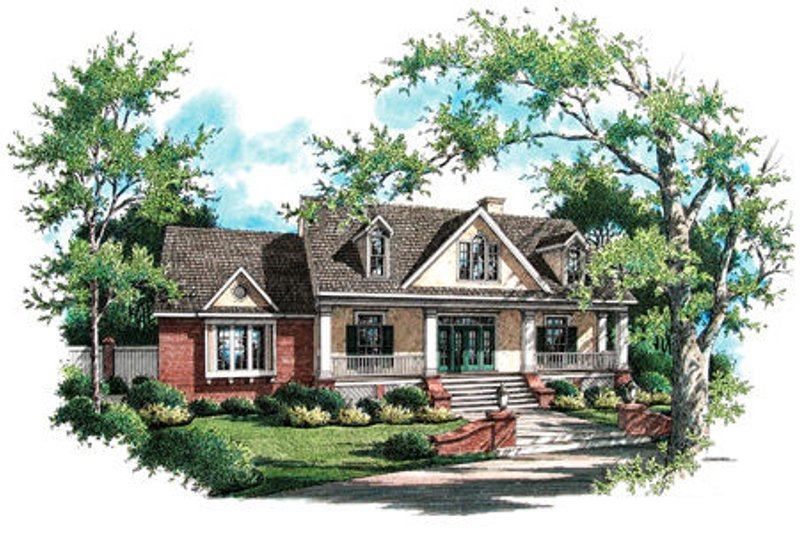 Country Exterior - Front Elevation Plan #45-338