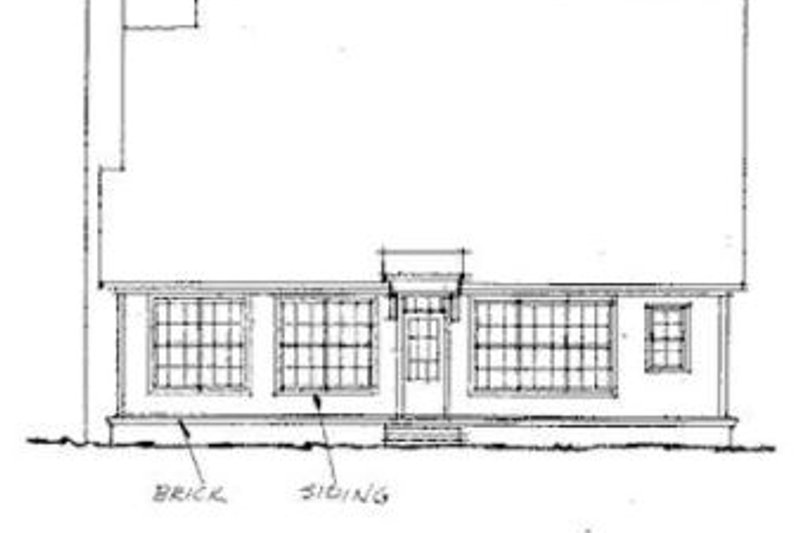 Traditional Exterior - Rear Elevation Plan #20-187 - Houseplans.com