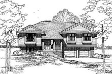 Traditional Exterior - Front Elevation Plan #20-135