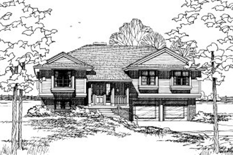 Home Plan Design - Traditional Exterior - Front Elevation Plan #20-135
